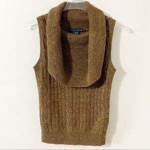 Ralph Lauren Alpaca/Linen Blend Sleeveless Sweater